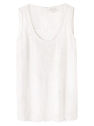 East Embroidered Cotton Silk Shell Top White