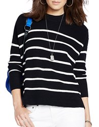 Polo Ralph Lauren Dolman Striped Sweater Black