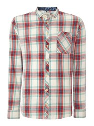 Blend Of America Check Classic Fit Long Sleeve Shirt Green