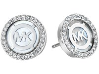 Michael Kors Logo Earrings Silver Mother Of Pearl Earring