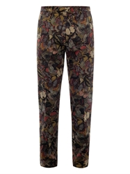 Valentino Camubutterfly Print Cotton Chinos