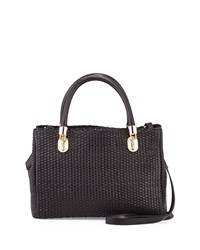 Cole Haan Benson Woven Leather Tote Bag Black