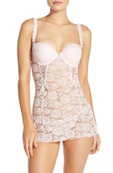 Black Bow Women's 'Rachel' Lace Babydoll And G String Blush