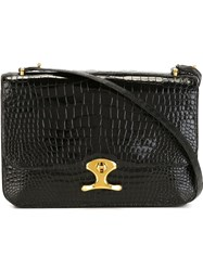 Herma S Vintage Flap Shoulder Bag Black