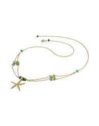 Forzieri Starfish Pendant Emerald And 18K Yellow Gold Necklace