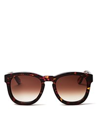 Wildfox Couture Classic Fox Wayfarer Sunglasses 50Mm Montage Brown Gradient