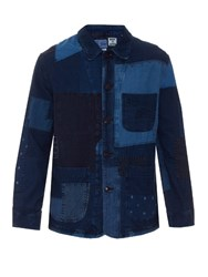 Blue Blue Japan Patchwork Denim Blazer Indigo