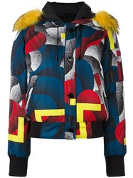 Kenzo 'Corners And Flowers' Puffer Jacket Multicolour