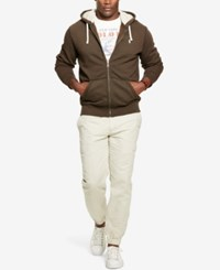 Polo Ralph Lauren Men's Big And Tall Full Zip Fleece Hoodie Brown