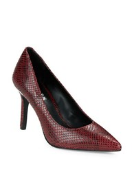Lauren Ralph Lauren Sarina Snake Embossed Pumps Red