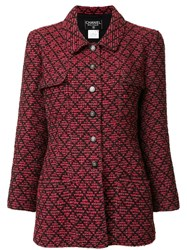 Chanel Vintage Tweed Jacket Red