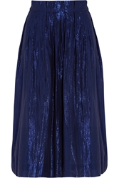 J.Crew Metallic Cotton Blend Voile Skirt