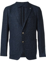 Tagliatore Tweed Blazer Blue