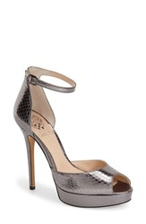 Women's Vince Camuto 'Lillith' Ankle Strap Platform Pump Moonrock Snake Leather
