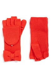 Kate Spade Women's New York Bow Convertible Mittens Persimmon Grove
