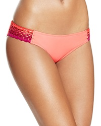 Becca By Rebecca Virtue Sunrise American Hipster Bikini Bottom Papaya