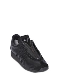 Yohji Yamamoto Leather And Suede Sneakers