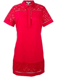 Kenzo Logo Print Shirt Dress Red