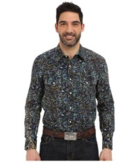 Rock And Roll Cowboy Long Sleeve Snap B2s6285 Green Men's Long Sleeve Button Up