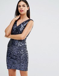 Forever Unique Indiana Sequin Mini Dress Navy
