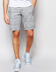 Tommy Hilfiger Chino Shorts With Small Leaf Print In Gray Gray