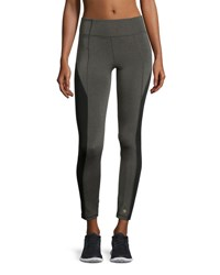 Aurum Colorblocked High Rise Leggings Gray Black