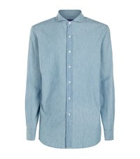 Ralph Lauren Chambray Denim Shirt Male Light Blue