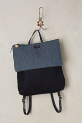 Anthropologie Clare V Agnes Backpack Dark Denim One Size Bags