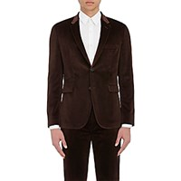 Paul Smith Men's Velvet Kensington Two Button Sportcoat Brown