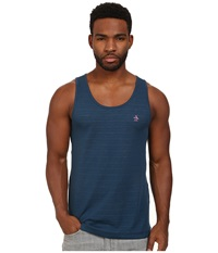 Original Penguin Bernardo Heritage Fit Tank Top Blue Wing Teal Men's Sleeveless Red
