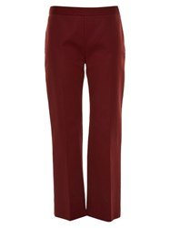 The Row Seloc Cropped Double Stretch Satin Trousers Red