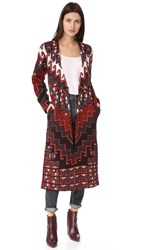 Mara Hoffman Bolnisi Rug Sweater Coat Burgundy