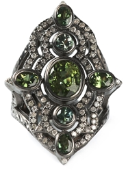 Loree Rodkin Embellished Ring Metallic