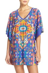Trina Turk Women's 'Tapestry' Strappy Back Cover Up Tunic