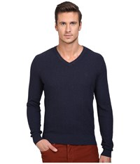 Original Penguin Donegal Herringbone V Neck Dark Sapphire Men's Sweater Blue