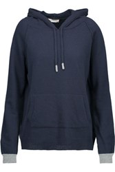 Chinti And Parker Merino Wool Cashmere Blend Hooded Sweater Midnight Blue