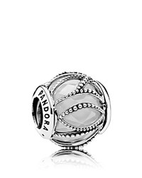 Pandora Design Charm Sterling Silver Cubic Zirconia And Glass Intertwining Moments Collection