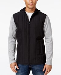 Alfani Men's Quilted Zip Up Hoodie Only At Macy's Boulder Combo