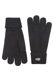 Lacoste Knitted Gloves Black