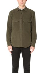Steven Alan Double Pocket Shirt Jacket Olive