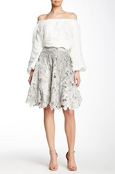 Gracia Floral Lace Skirt Gray