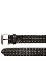 Diesel 40Mm Pyramid Embossed Leather Belt