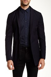 John Varvatos Shawl Collar Wool Blazer Blue