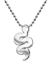 Alex Woo Little Snake Zodiac Pendant Necklace In Sterling Silver