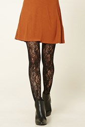 Forever 21 Semi Sheer Floral Tights