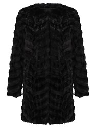 Unreal Fur Dream Catcher Coat Black