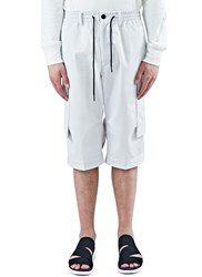 Y 3 Oversized Cargo Shorts White