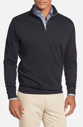 Men's Peter Millar Interlock Quarter Zip Sweatshirt Black