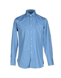 Ballantyne Shirts Shirts Men Sky Blue
