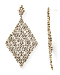Abs By Allen Schwartz Stone And Mesh Drop Earrings Gold